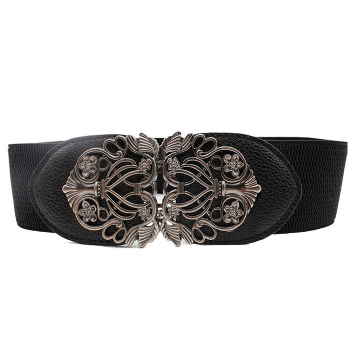 #5 DROPSHIP 2018 New HOT Fashion Accessories Alloy Flower Vintage Leather Belt Belt Straps For Women Freeship