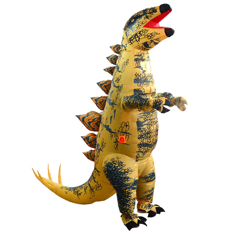 Adult Stegosaurus Mascot Inflatable Costume Christmas Anime Cosplay Dinosaur Animal Jumpsuit Halloween Costume for Women Man