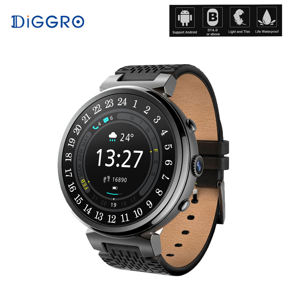 Diggro I6 3G Smart watch Phone with camera Anti-lost Heart Rate Monitor Pedometer Fitness Tracker Smartwatch GPS sport watch