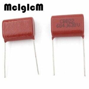 Image 2 - MCIGICM 500 pcs  684 680nF 630V 10pcs CBB Polypropylene film capacitor pitch 22mm 684 680nF 630V