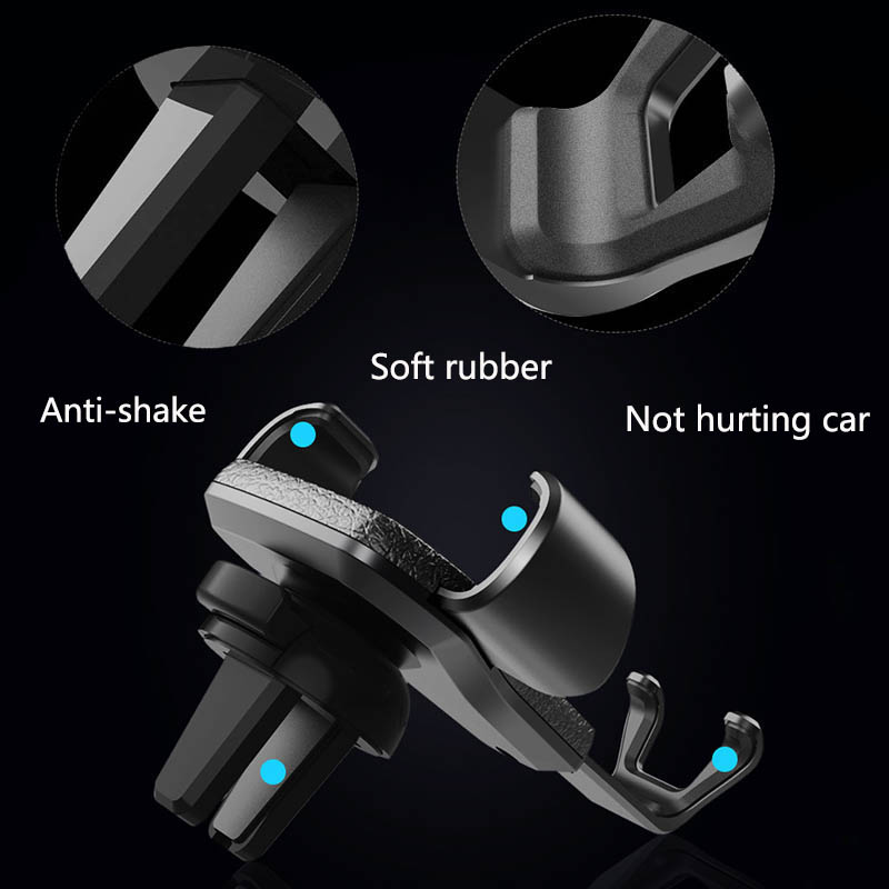 Гравитационный алюминиевый сплав держатель для телефона держатель на вентиляционное отверстие автомобиля Стенд без магнита Универсальный держатель для мобильного телефона смартфона