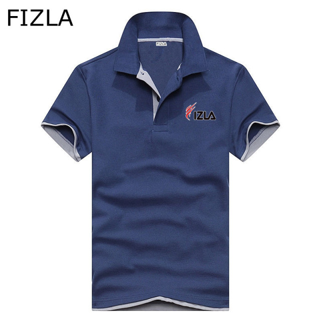 Polo men clothing High Quality polo shirt printed FIZLA men women Male Fashion polo shirt men Solid Tee Shirt Tops polo homme