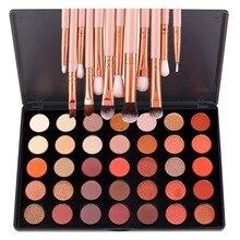 35 Colors Shimmer Matte Eye shadow Professional Makeup Eyeshadow Palette With 12 Pcs Eye Brush Beauty Make up Set