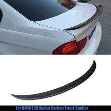 For bmw E90 spoiler E90 & E90 M3 carbon fiber rear trunk spoiler 318i 320i 325i 330i 2005 – 2011 E90 sedan rear wing spoiler CF