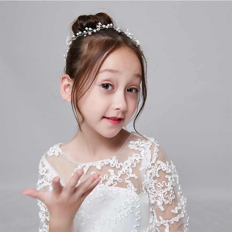 Детский головной убор гирлянда Белый цветок Женская повязка для головы колпак декоративный принцесса девушка милая леди Джокер обруч для волос