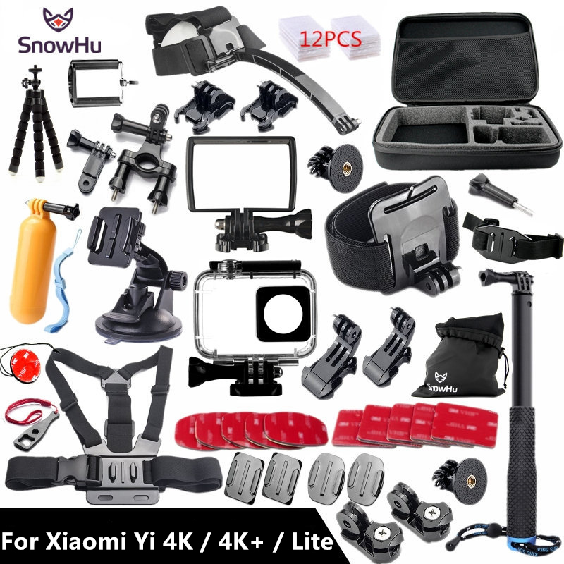 חדרגל xiaomi yi 4k - SnowHu For Xiaomi Yi 4K Accessories Monopod Stick Octopus Tripod For Xiaomi Yi 4K/4K+ Lite Action International Camera 2 II GS27