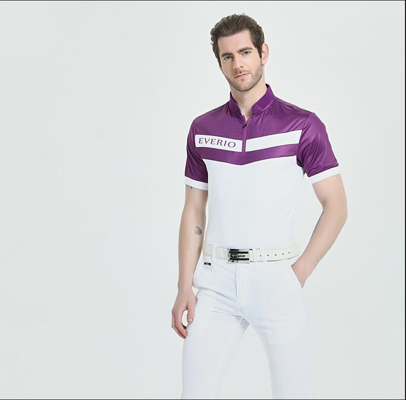 2019 printemps été Golf chemises à manches courtes 1/4 Zipper col hommes T-shirt respirant à séchage rapide Golf sportswear hauts S-3XL