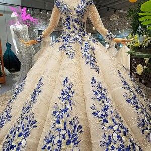 Image 5 - AIJINGYU חתונה Dressesing שמלות יוקרה שמלות לבן כדור פקיסטני לקנות בדובאי ריינסטון שמלת קוריאני שמלת חתונה
