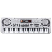 61-Key Tastatur Klavier Klavier Führte Instrument Tastatur 21-Zoll Musik Bildung Doppel-Reihe Elektronische Klavier Kinder anfänger Elec