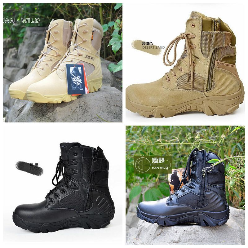 Autumn and Winter Warm Breathable Shoes Men War Game Hunting Boots Hiking Shoes Leather Men Waterproof Boots