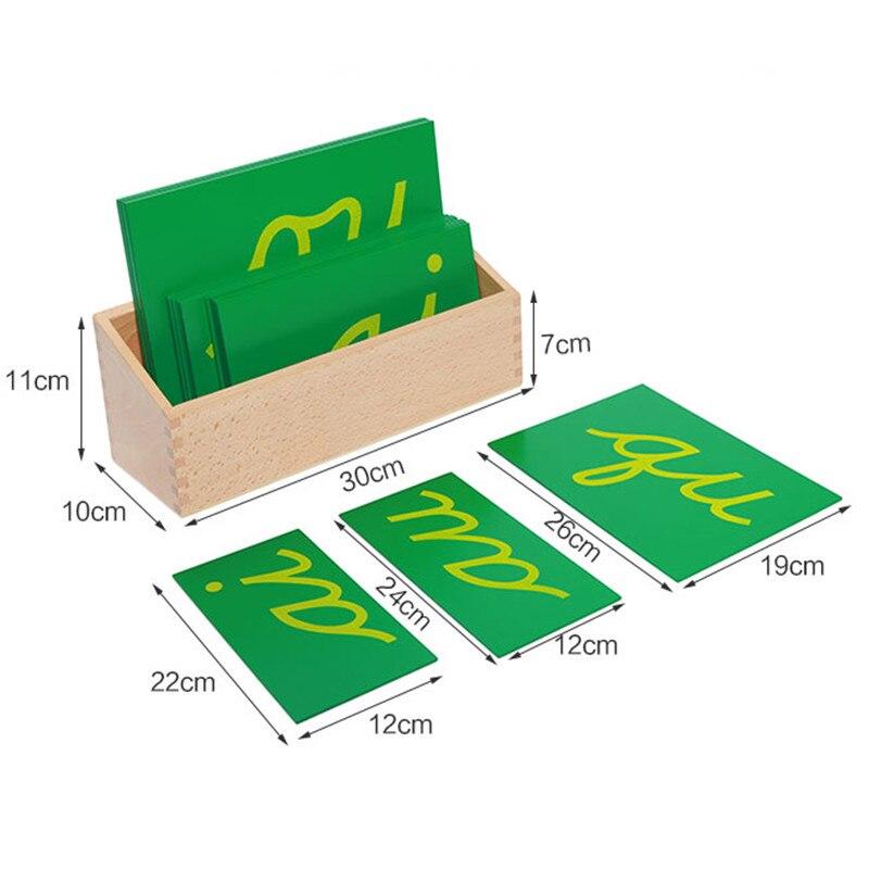 Bébé jouet Montessori papier de verre Double lettres Cursive avec boîte début préscolaire Brinquedos Juguetes - 6