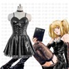 Amazing Anime Death Note Misa Amane Imitation Leather Dress Halloween Party Cosplay Sexy Uniform Costumes
