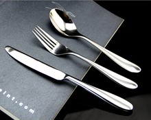 0 Quality western knife and fork spoon tableware stainless steel tableware steak knife and fork kit