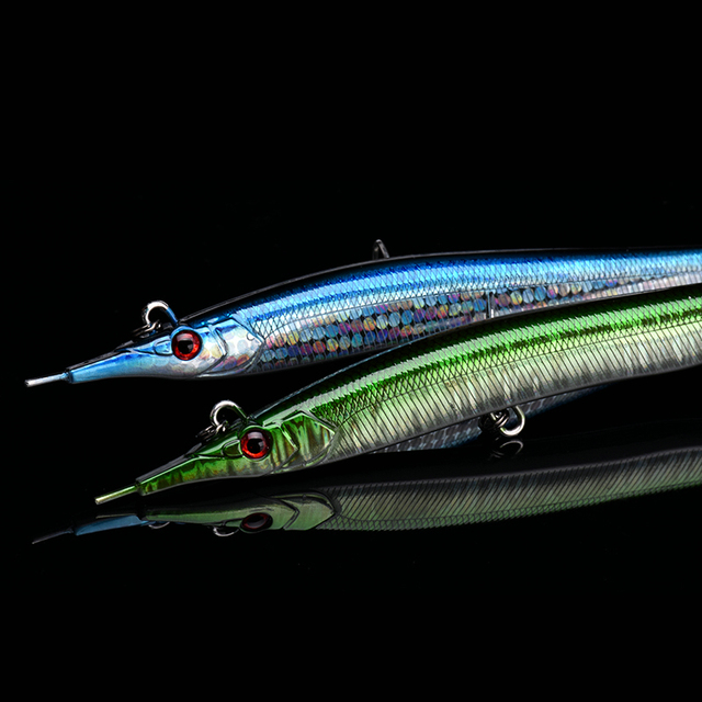 ALLBLUE Needlefish Lure Needle Stick Fishing Lure 133mm/30g Sinking Pencil 3D Eyes Artificial Bait Sea Bass Lures 1