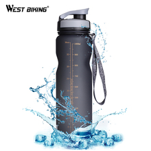 WEST BIKING BPA FREE Cycling Water Bottle 1000ML Leak-Proof Bicycle Kettle Ciclismo Anti-skid Portable Outdoor Sport Bike