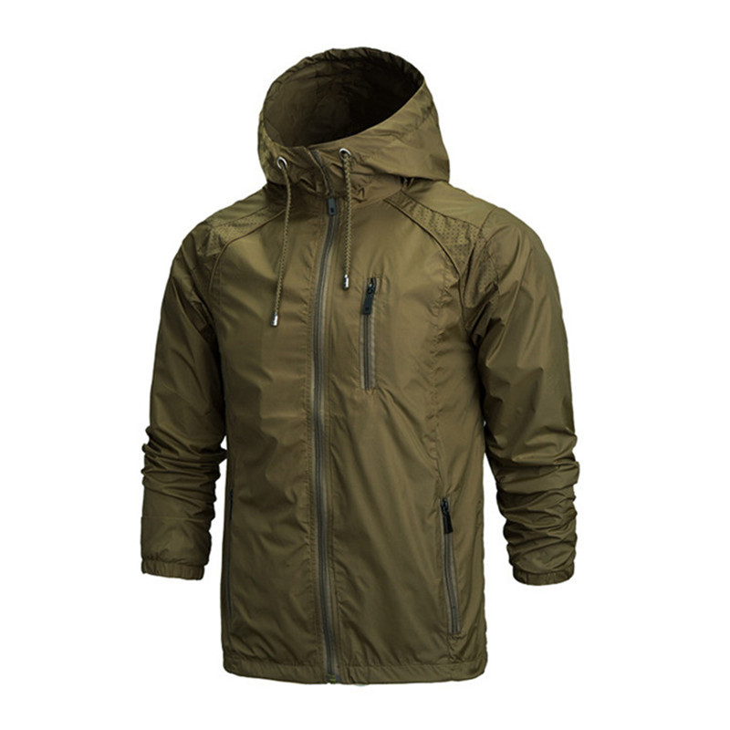 New Spring Summer Mens Fashion Outerwear Windbreaker Men' S Thin Jackets Hooded Casual Sporting Coat Waterproof Outdoor Jackets