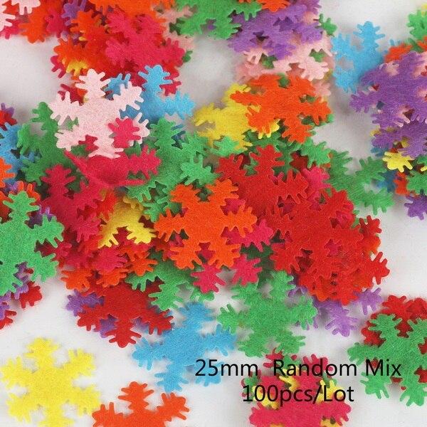 100 шт цветок/Сердце/Бабочка Нетканая фетровая ткань Войлок DIY Набор для шитья кукол скрапбук DIY ремесленные принадлежности - Цвет: Type 16