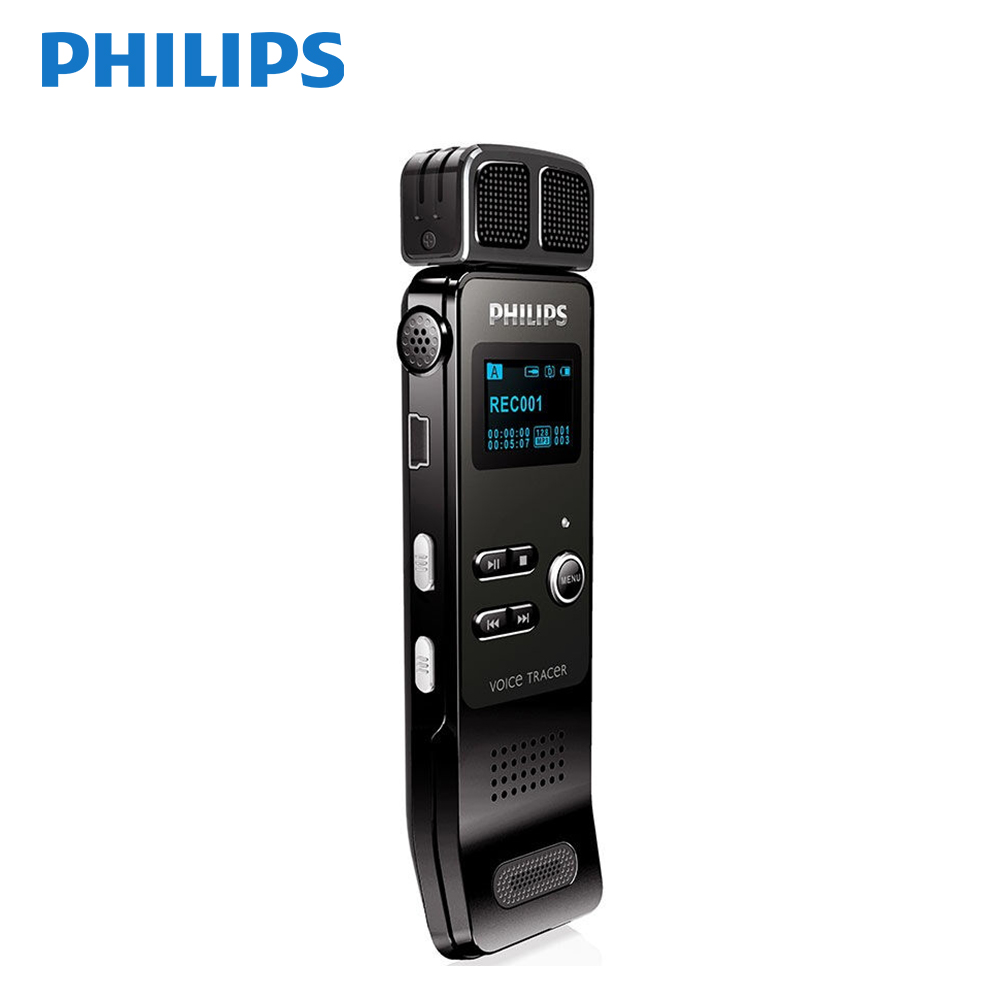 Philips PCM Voice Recorder Wireless MIC HD Noise Reduction Mini Voice-ativated 30m Long Distance Recording VTR7100