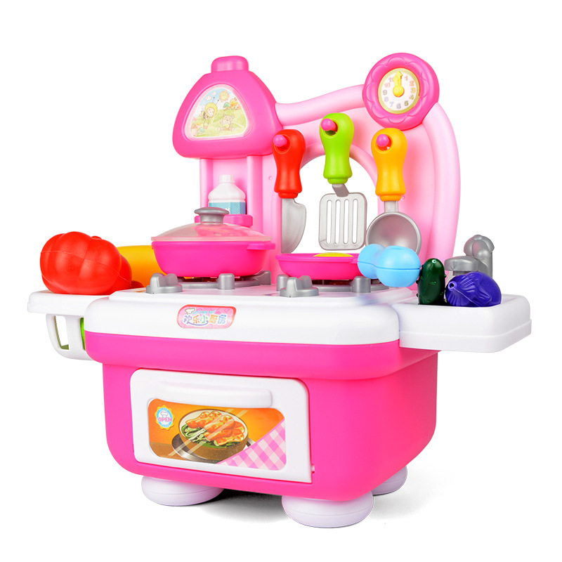 New arrival classic play house kitchen toy set plastic for Kitchen set classic