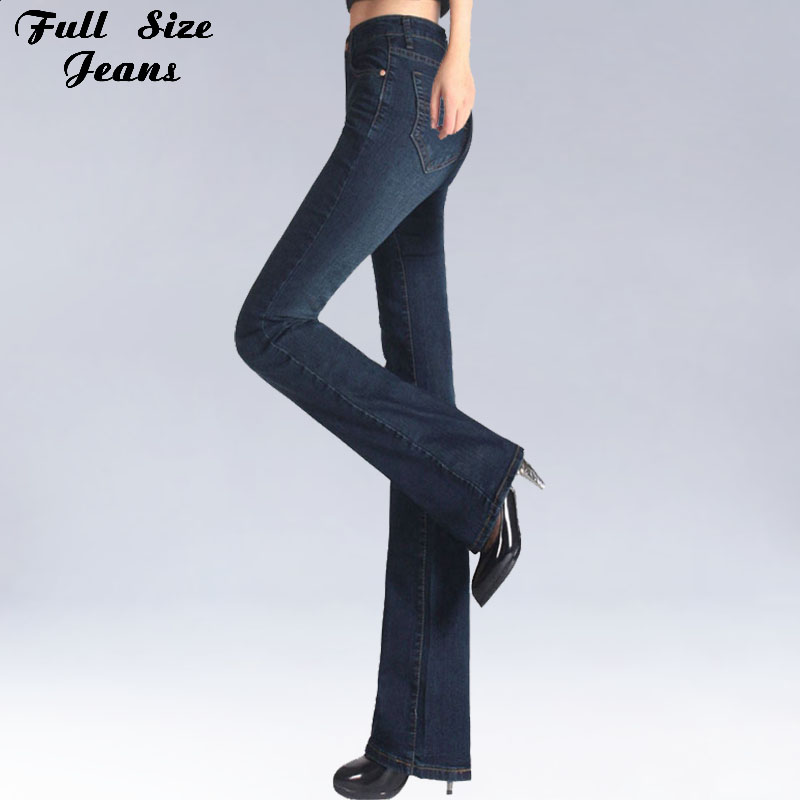 Spring Slim Fit Plus Size Flare Jeans Mid Waist Stretch Skinny Jean Vintage Bell-Bottom Pants Denim Trousers XXL 4XL 5XL XS 6XL