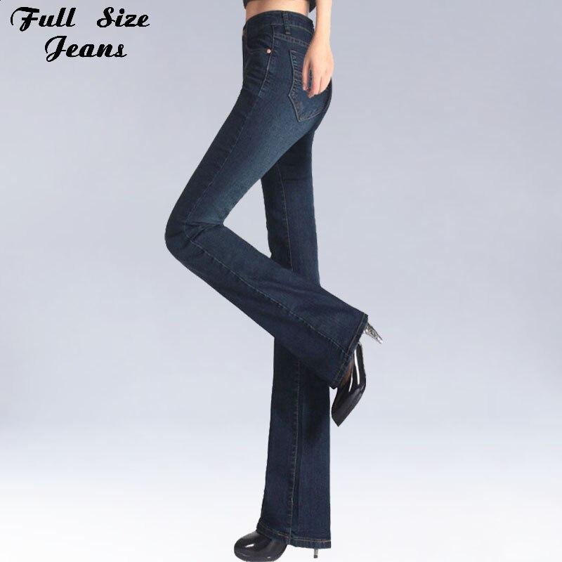 Spring Slim Fit Plus Size Flare Jeans Mid Waist Stretch Skinny Jean Vintage Bell-Bottom Pants Denim Trousers XXL 4XL 5XL XS 6XL