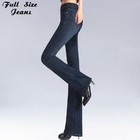 Spring Slim Fit Plus Size Flare Jeans Mid Waist Stretch Skinny Jean Vintage Bell Bottom Pants Denim Trousers XXL 4XL 5XL XS 6XL