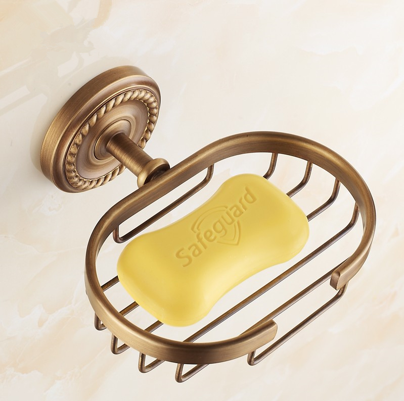 Bathroom Fixtures New Arrive,antique Finish Brass Soap Basket /soap Dish/soap Holder /bathroom Accessories,bathroom Furniture Toilet Vanity Luxuriant In Design Bathroom Hardware