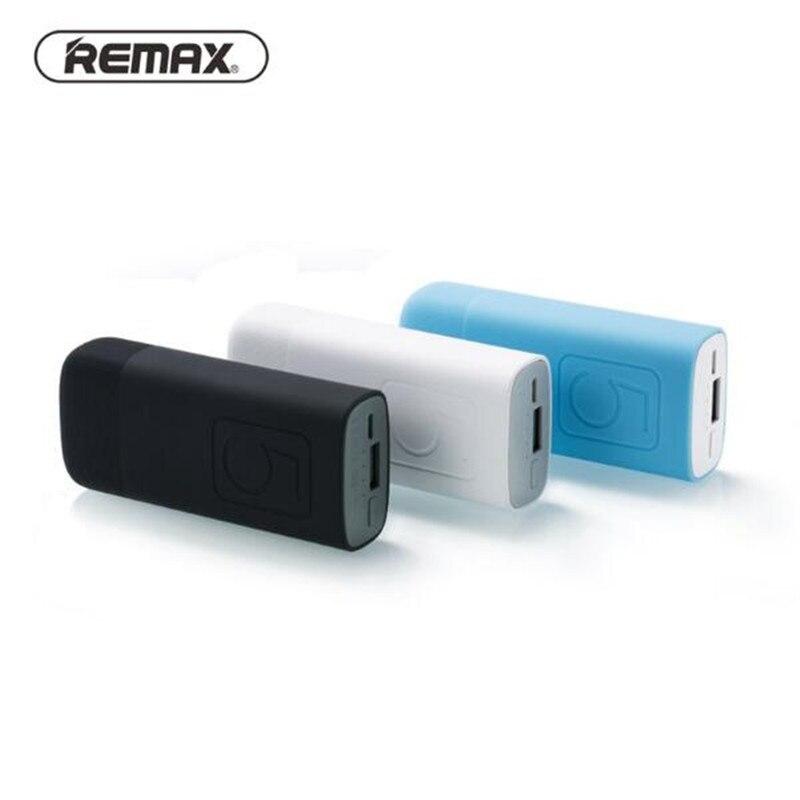 imágenes para Remax Mini 5000 mAh Banco Portable Externo del Cargador de Batería de Carga USB fuente de Alimentación Móvil Para Teléfonos Inteligentes