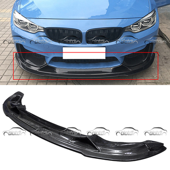 Ön Dudak BMW F80 F82 M3 M4 R Stil Karbon Fiber Tampon Spoiler Araba Styling Vücut Kitleri