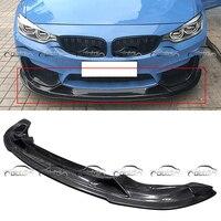 Передняя губа ДЛЯ BMW F80 F82 M3 M4 R Стиль бампер из углеродного волокна спойлер для автомобиля тела Наборы