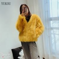 Women Fox Fur Coat 2018 Winter Fashion Real Fur Fox Jackets Female Fur Fox Coats Keep Warm Multiple Colors