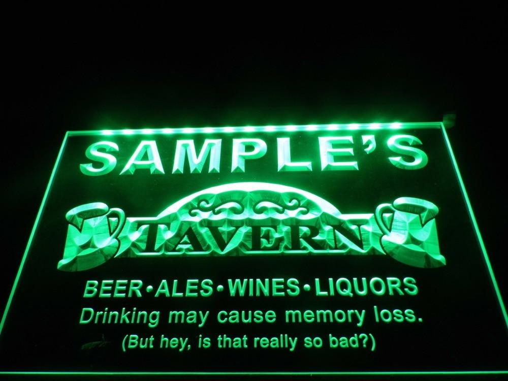 DZ025 Name Personalized Custom Tavern Man Cave Bar Beer