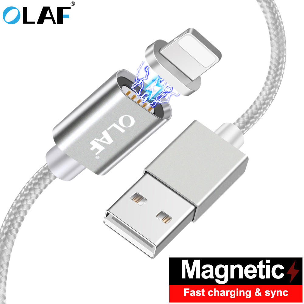 quality design b1c66 331a9 OLAF Magnetic Cable For iphone 8 7 6 5 S Fast Charger Charging Cable Data  Magnet Cabel For iphone x 10 7 8 6s Plug Phone Cord