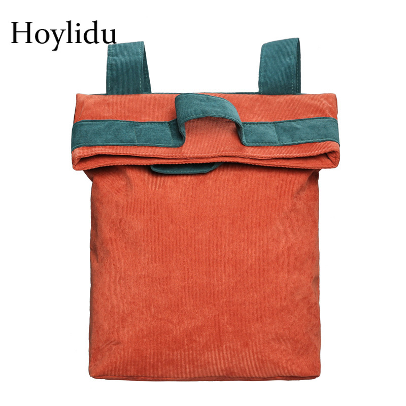 New Vintage Soft Corduroy Women Backpack Panelled Preppy Style School Bags for Teenage Girls Female Casual Notebook BackpacksNew Vintage Soft Corduroy Women Backpack Panelled Preppy Style School Bags for Teenage Girls Female Casual Notebook Backpacks