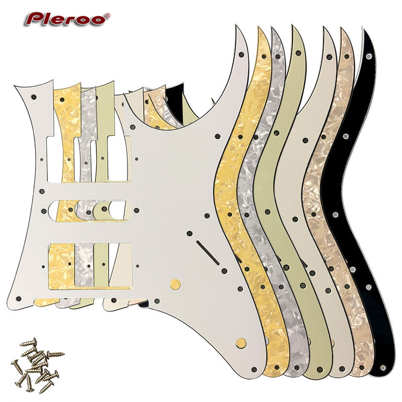 US $5 7 20% OFF|Pleroo Great Quality Electric Guitar Parts For MIJ Ibanez  RG750 Guitar Pickguard Humbucker HSH Pickup Scratch Plate-in Guitar Parts &