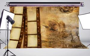 Image 3 - Exquisite Old Wallpaper Wall Painting with Roll Studio Props Photography Background Retro Photo Backdrop 5x7ft