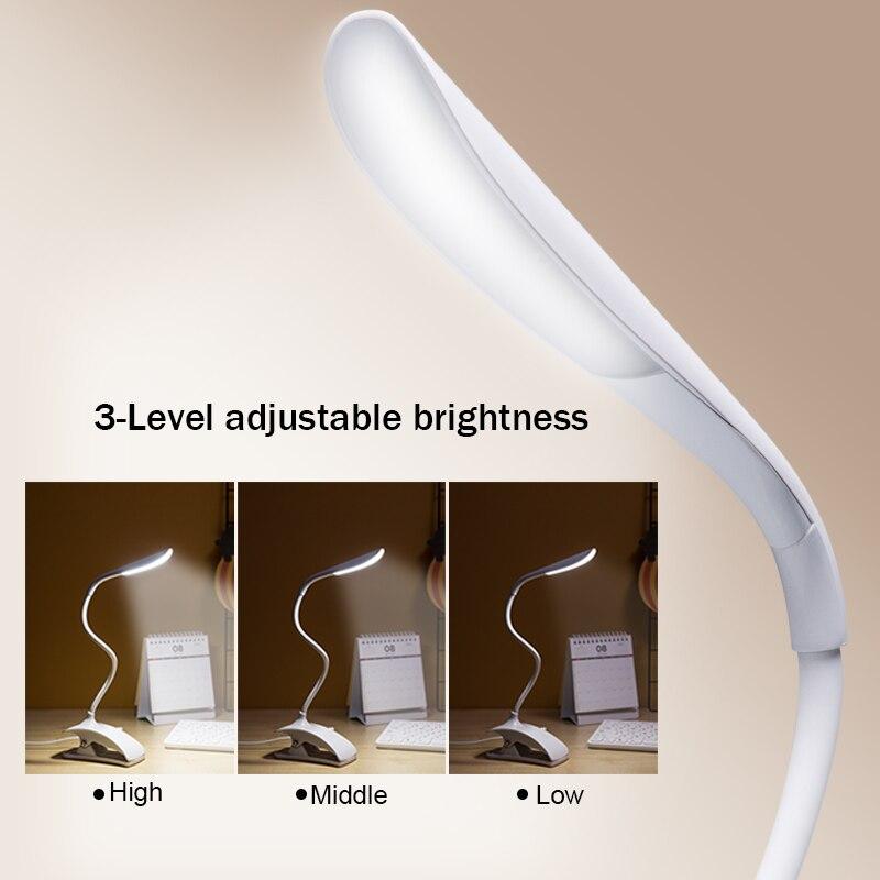 Diplomatisch Finether Led Schreibtisch Lampe Touch Sensor Dimmbare Clamp Folding Tisch Lampe Mit Einstellbarer Hals Für Lesen Studie Schlafzimmer Büro GroßE Sorten Schreibtischlampen