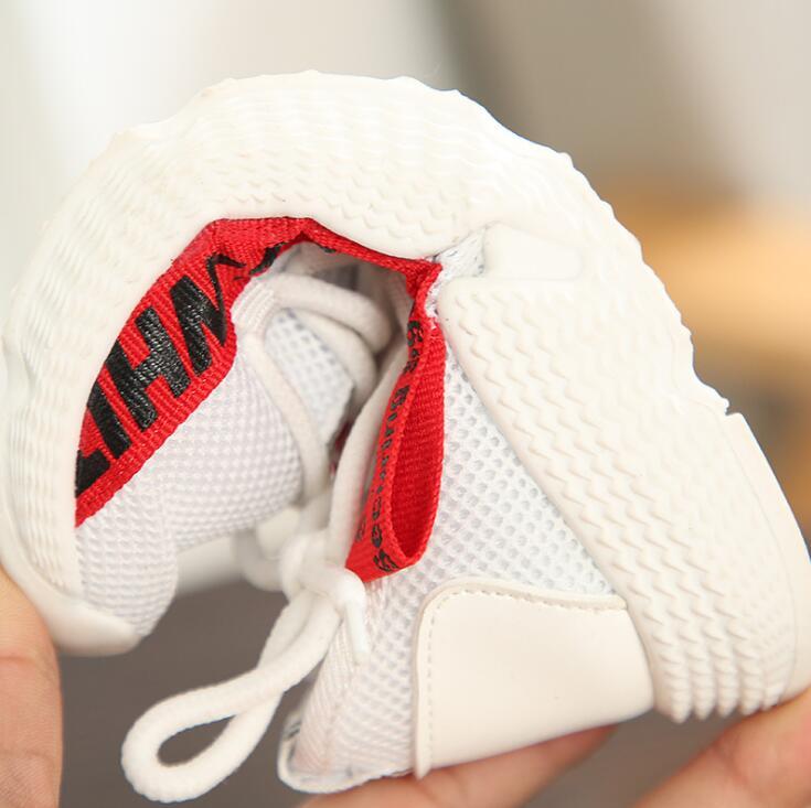 Breathable Kids Sport Shoes For Girls Running Boys Sneakers Hook&Loop Children Shoes School Trainer Student Footwear