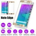 4 colores de pantalla 3d cubierta curvo de vidrio templado film protector de pantalla para samsung galaxy note edge n9150