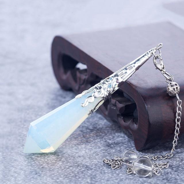 Pendule en pierre naturelle de haute qualité pour les pendules dopalite de quartz Opalite