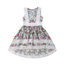 цена на Toddler Kids Baby Girls Dress Lace Floral Party Clothes Sleeveless Dresses Clothes Children Dress Princess Costume Kids Dresses