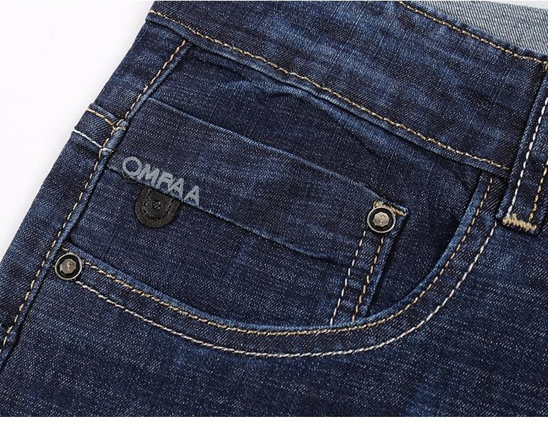 KSTUN Men Jeans Famous Brand 2019 Slim Straight Business Casual Dark Blue Thin Elasticity Cotton Denim Pants Trousers pantalon 15