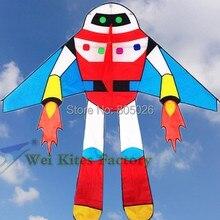 Высокое качество робот кайт планета soldiers10pcs/лот с ручкой линии астронавт открытый игрушки Воздушные Змеи Wei завод weifang