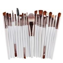 15/6pcs Pro Makeup Set Eyeshadow Eyeliner Lip Powder Foundation Cosmetic Brushes