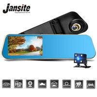 Jansite Car DVR 1080 P máy ảnh Kép chiếu hậu Xe máy ảnh gương Dash cam Auto Registrator ghi lại Tự Động bảo hiểm