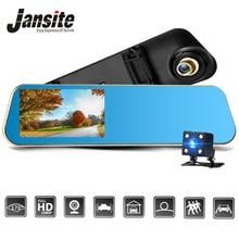 Jansite Видеорегистраторы для автомобилей 1080 P две камеры заднего вида Автомобильная камера зеркало регистраторы Авто регистратор записи автоматического покрытия