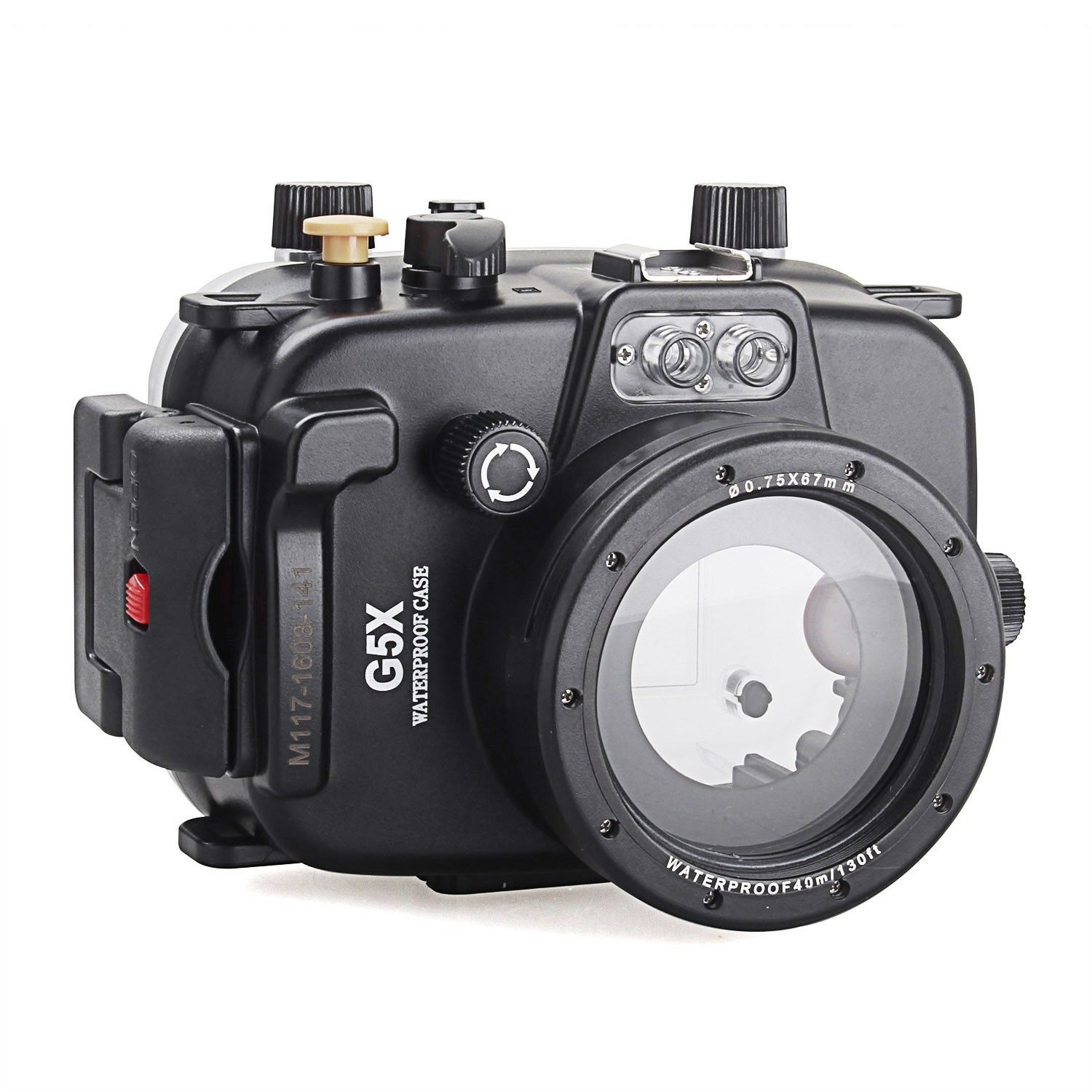 Waterproof Underwater Housing diving Camera Housing Case for canon PowerShot G5X Lens meikon 40m waterproof underwater camera housing case bag for canon 600d t3i