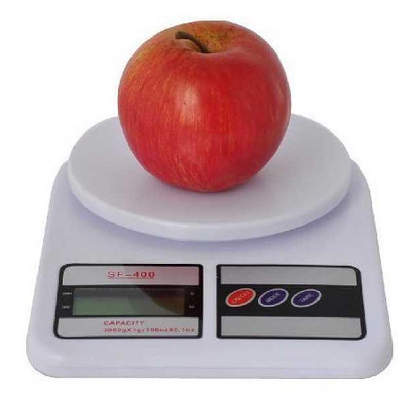 Balances électroniques de cuisine d'affichage numérique d'affichage à cristaux liquides de 10 kg/1g SF-400 pour les outils de mesure de cuisine de régime de poids de nourriture de colis Postal