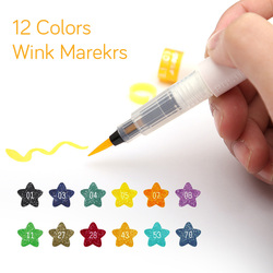 High Quality 12 Colors Art Marker Wink of Stella Brush Glitter Markers Brush Pen For Sparkle Shine To Lettering Stamping Project