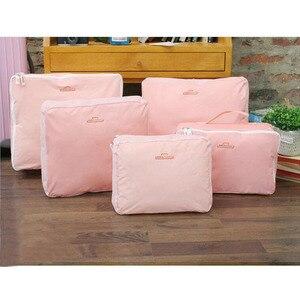 Image 3 - 5PCS/Set High Quality Oxford Cloth Travel Mesh Bag Luggage Organizer Packing Cube Organiser Travel Bags Travel Bags Packing Cube